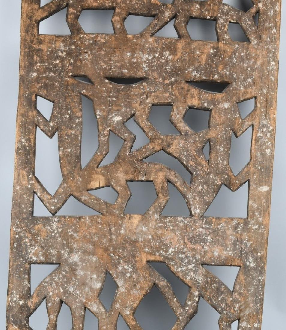 AFRICAN ELABORATE CARVED PANEL, CROCODILES - 8