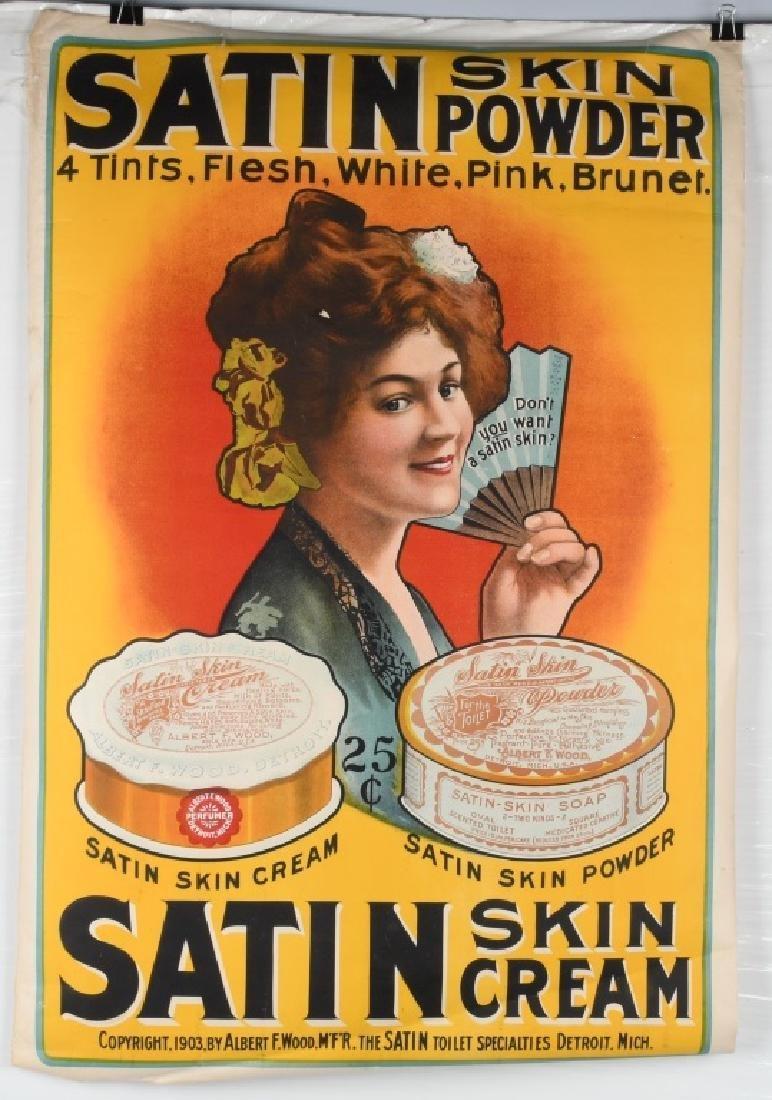 1903 SATIN SKIN CREAM ADVERTISING POSTER