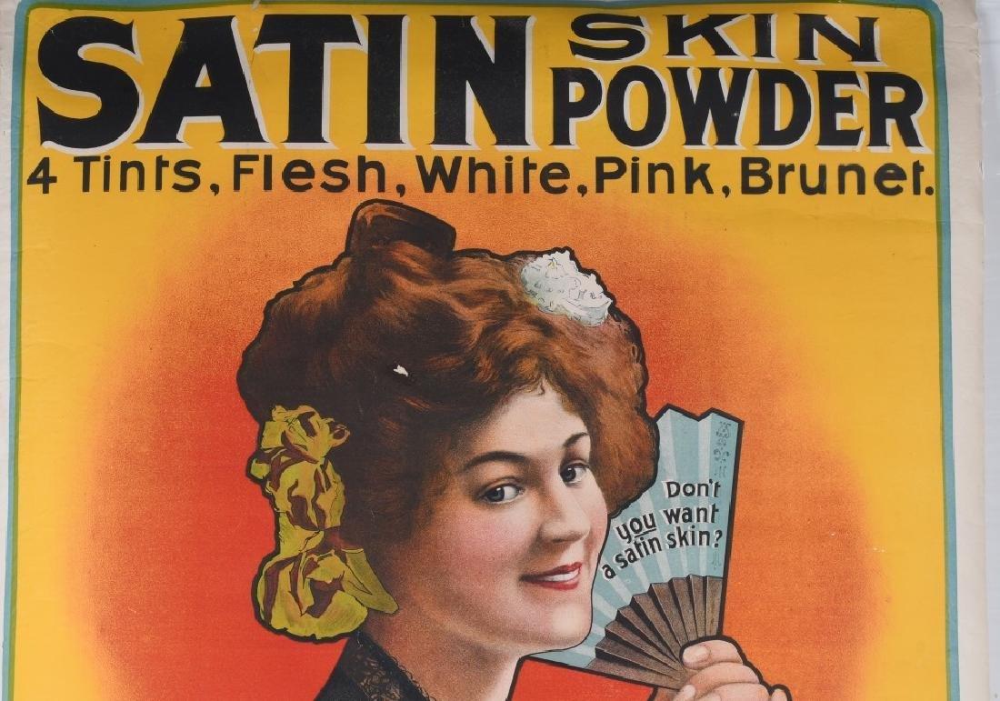 1903 SATIN SKIN CREAM ADVERTISING POSTER - 2