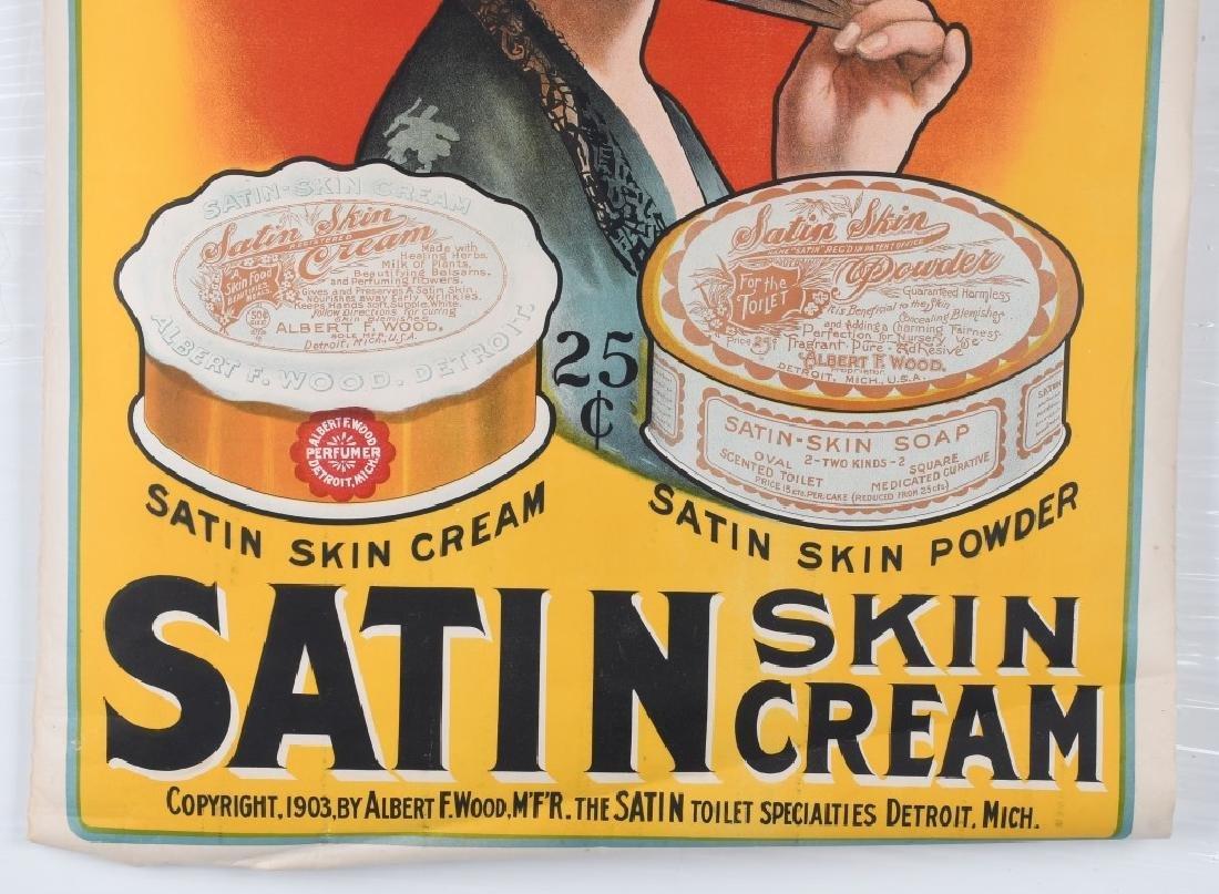 1903 SATIN SKIN CREAM ADVERTISING POSTER - 3