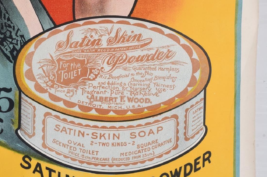 1903 SATIN SKIN CREAM ADVERTISING POSTER - 4