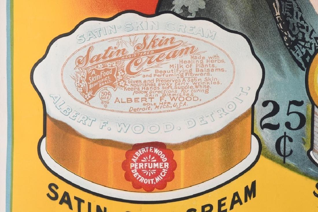1903 SATIN SKIN CREAM ADVERTISING POSTER - 5