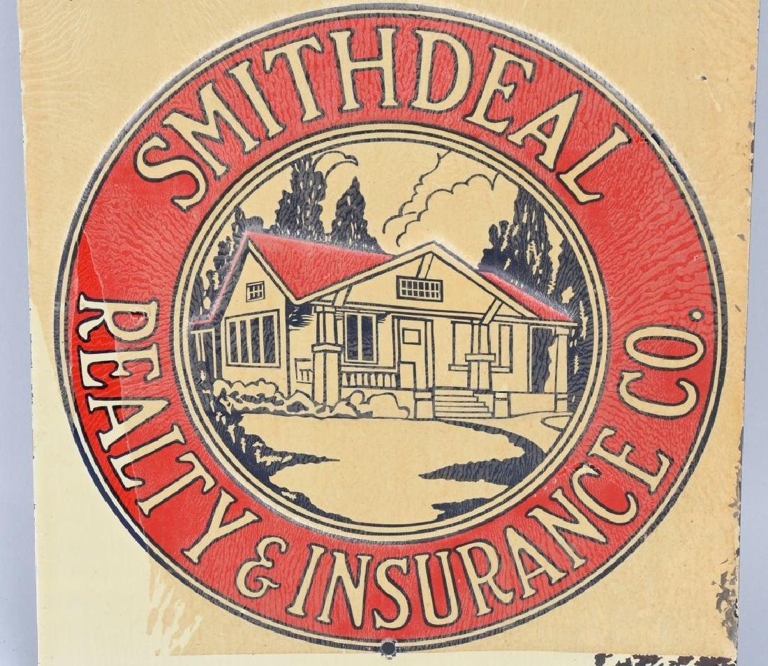 SMITHDEAL REALTY & INSURANCE TIN SOLD SIGN - 2