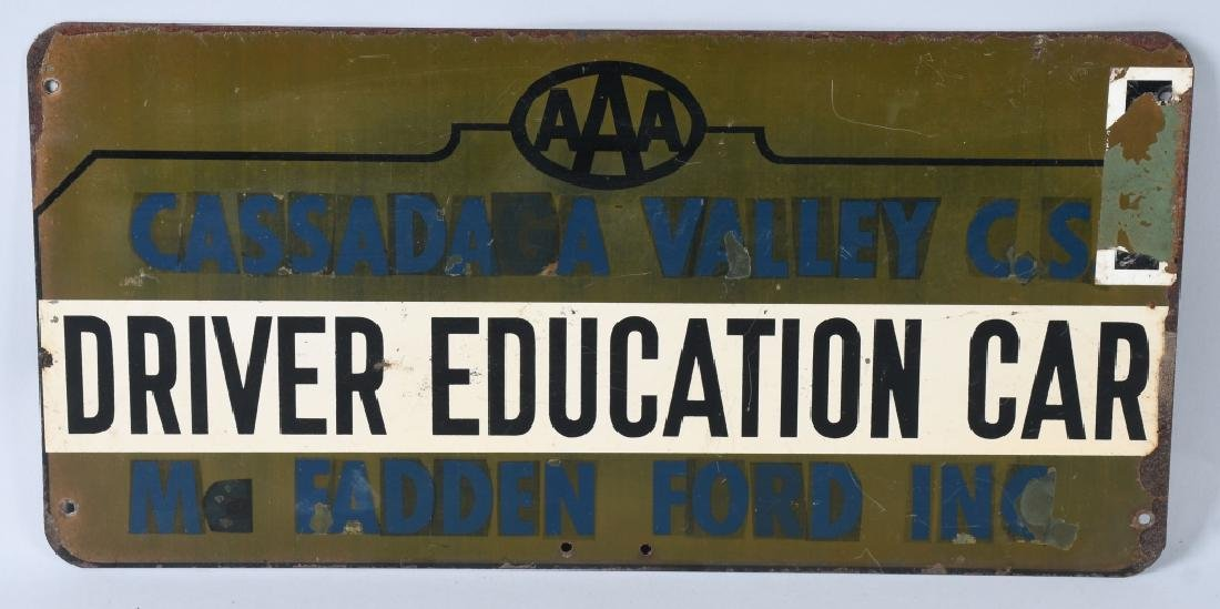 AAA DRIVER EDUCTION CAR SIGN