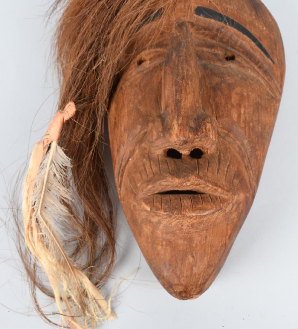 VINTAGE IROQUOIS INDIAN FALSE FACE MASK - 3