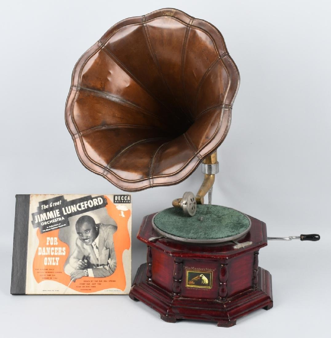 MODERN HIS MASTER'S VOICE GRAMOPHONE