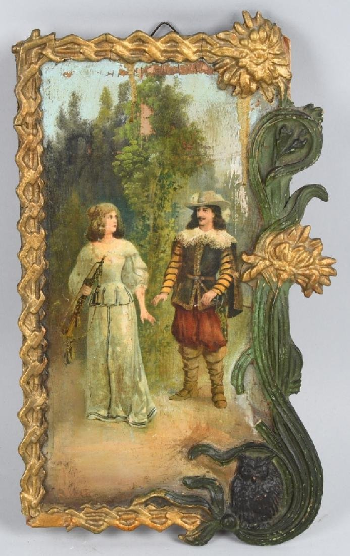 EARLY 19th CENT. FRENCH OIL ON BOARD PAINTING
