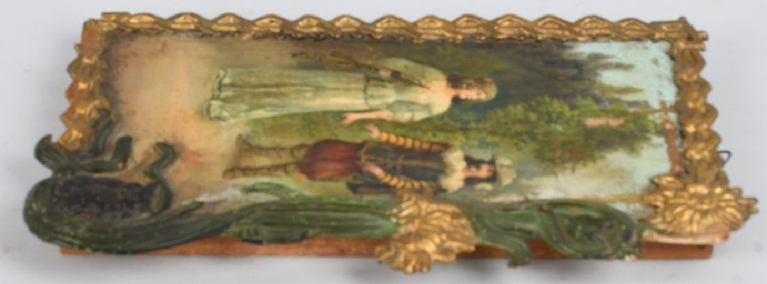EARLY 19th CENT. FRENCH OIL ON BOARD PAINTING - 8