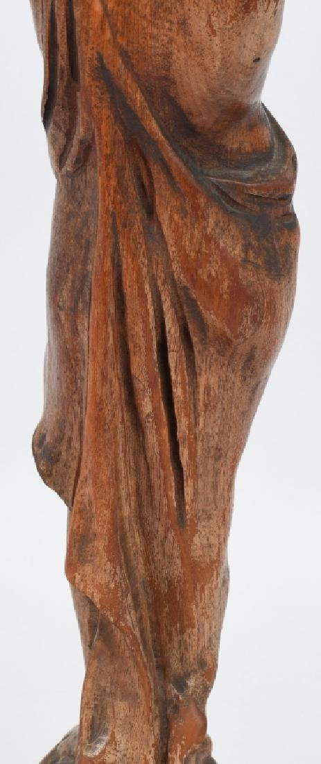 CARVED WOOD FIGURAL ASHTRAY STAND - 8