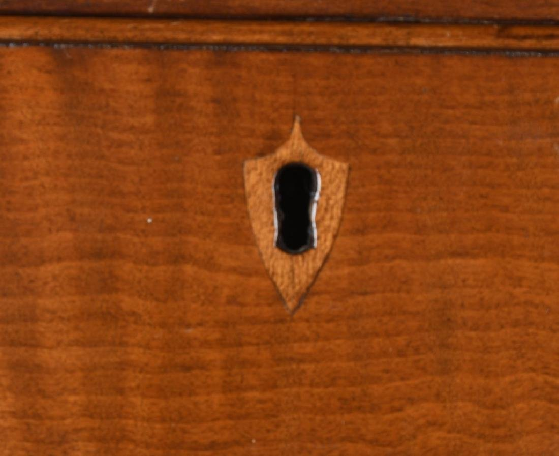 19th CENT. FEDERAL TIGER MAPLE & CHERRY CHEST - 5
