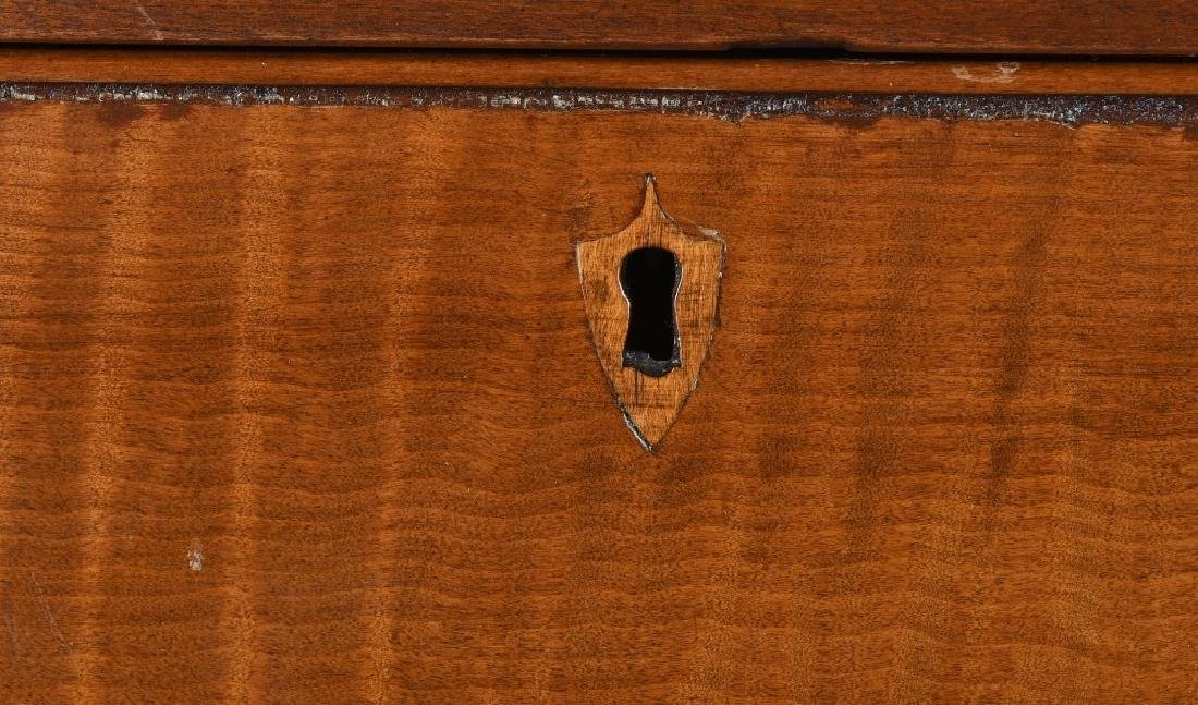 19th CENT. FEDERAL TIGER MAPLE & CHERRY CHEST - 6
