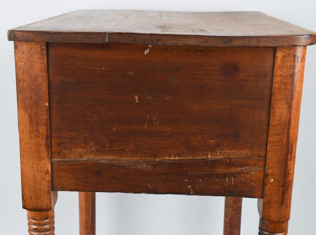 19th CENT. TIGER MAPLE & CHERRY 2 DRAWER STAND - 8