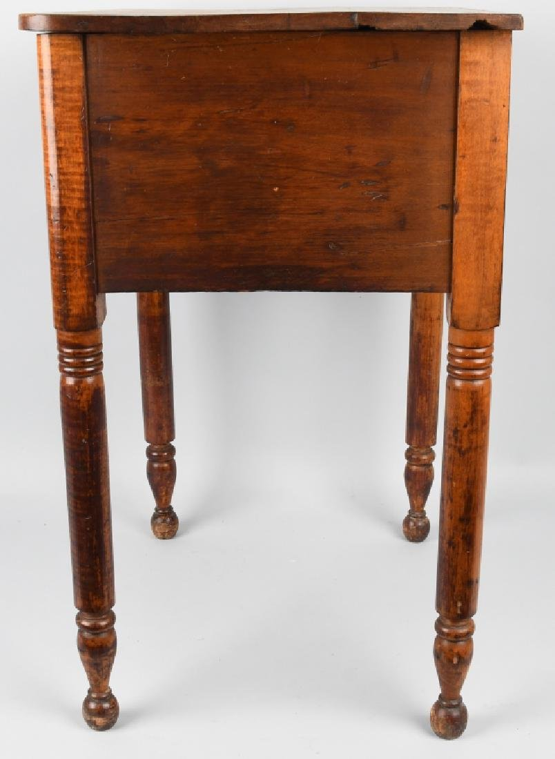 19th CENT. TIGER MAPLE & CHERRY 2 DRAWER STAND - 9