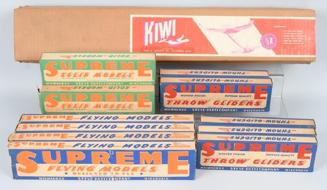 13-VINTAGE WOOD TOY AIRPLANE KITS, BOXED