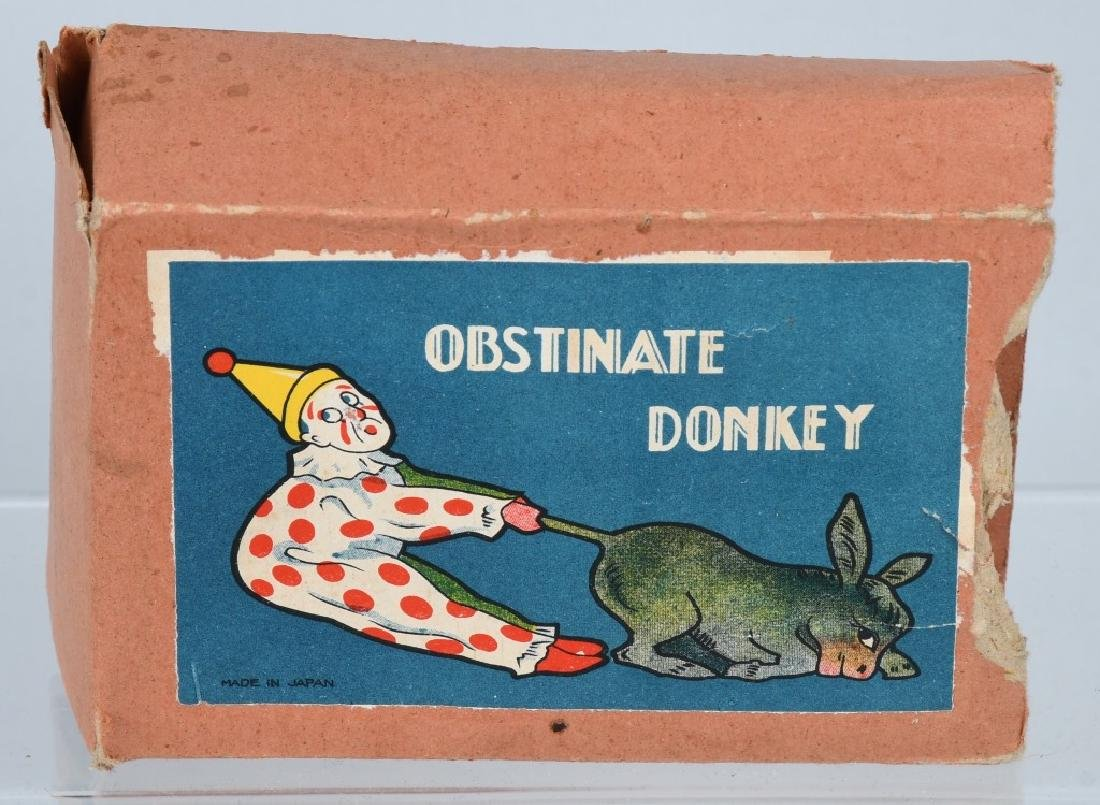 JAPAN CELLULOID WINDUP CLOWN & DONKEY, BOXED - 4