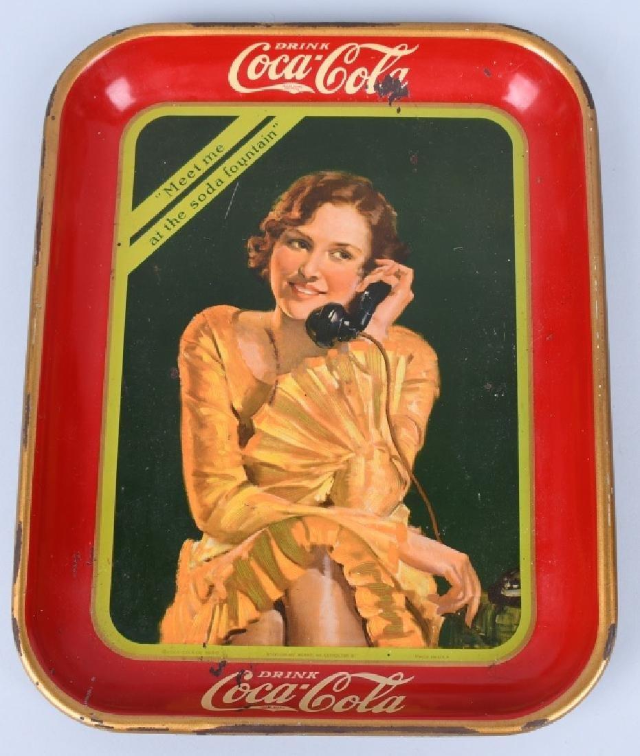 2-COCA COLA ADVERTISING TRAYS, 1930 & 1953 - 2
