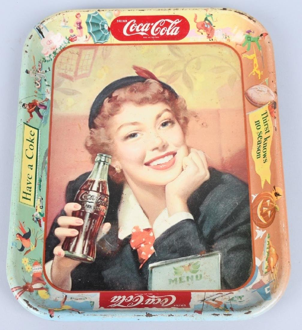 2-COCA COLA ADVERTISING TRAYS, 1930 & 1953 - 6