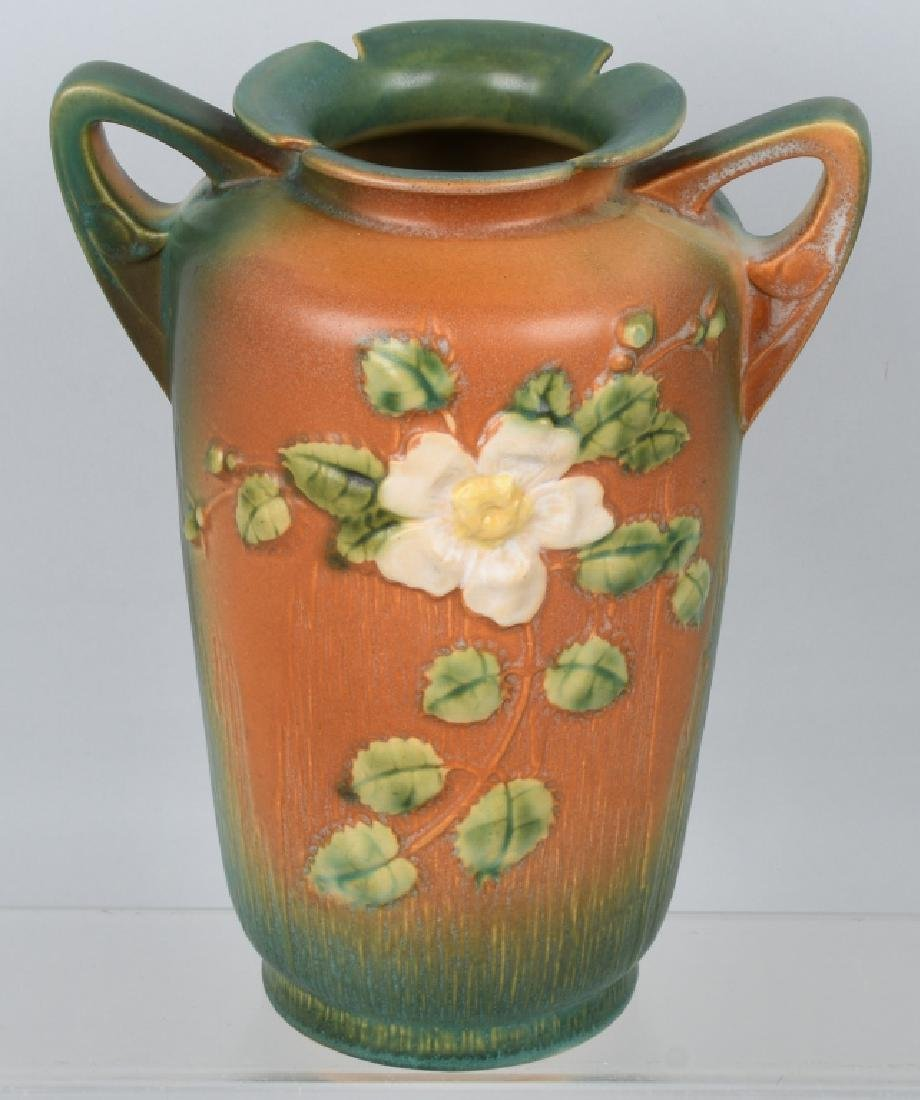 2-ROSEVILLE POTTERY VASES 185-8 and 988-10 - 2