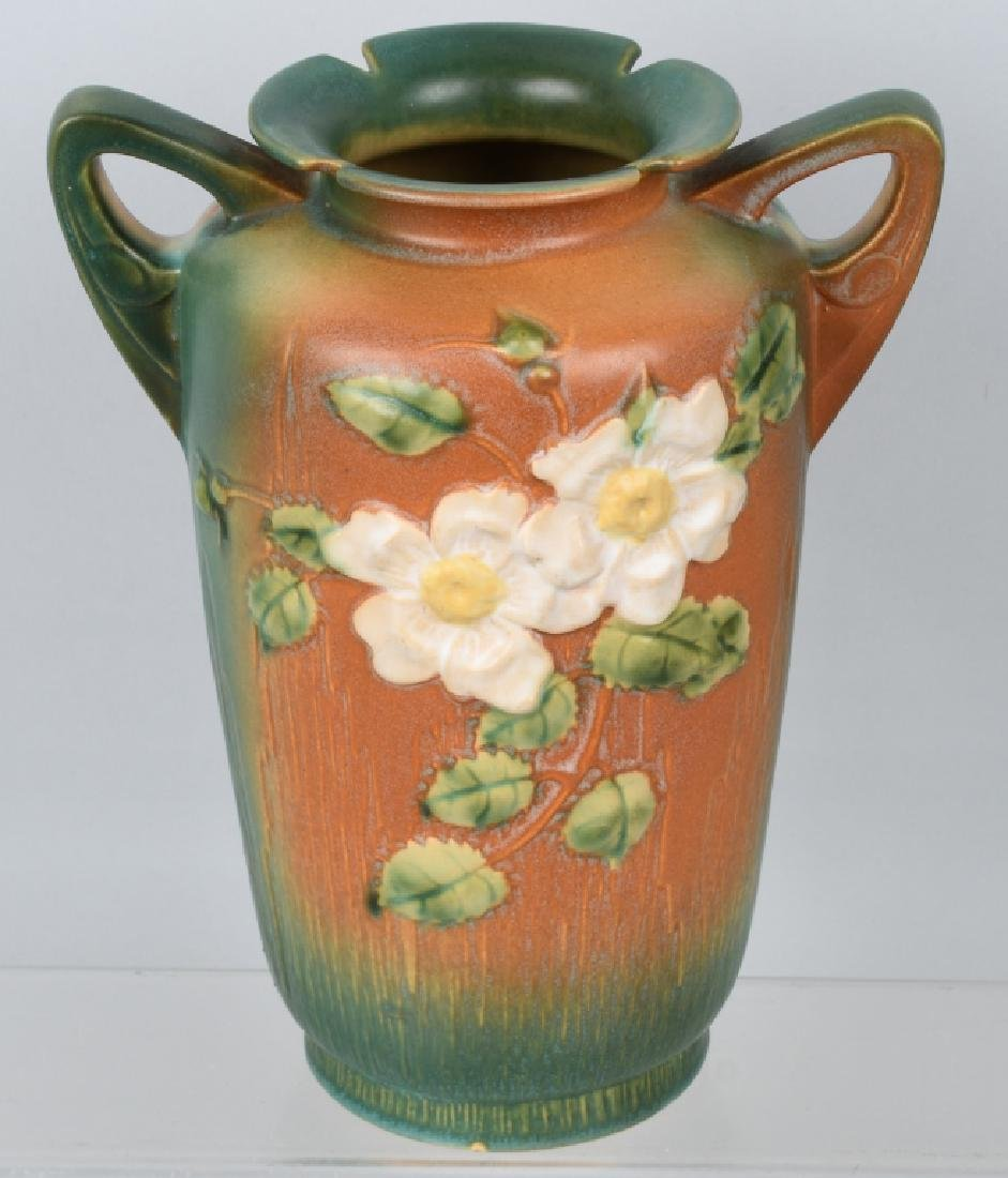 2-ROSEVILLE POTTERY VASES 185-8 and 988-10 - 3