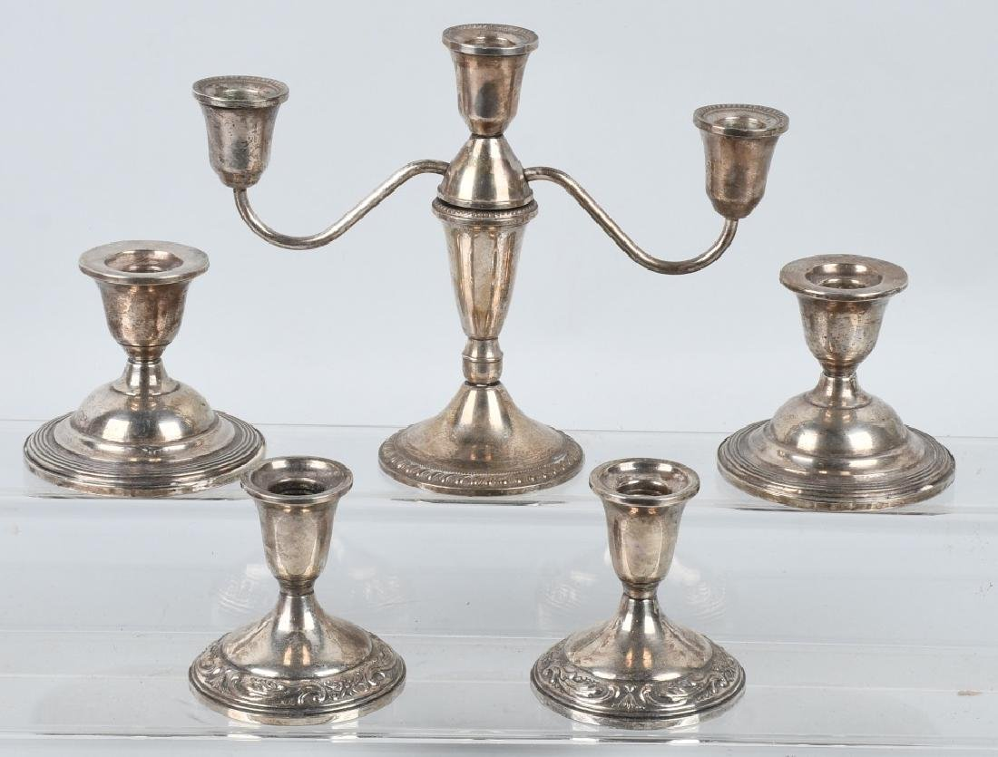 STERLING SILVER CANDLESTICK HOLDERS