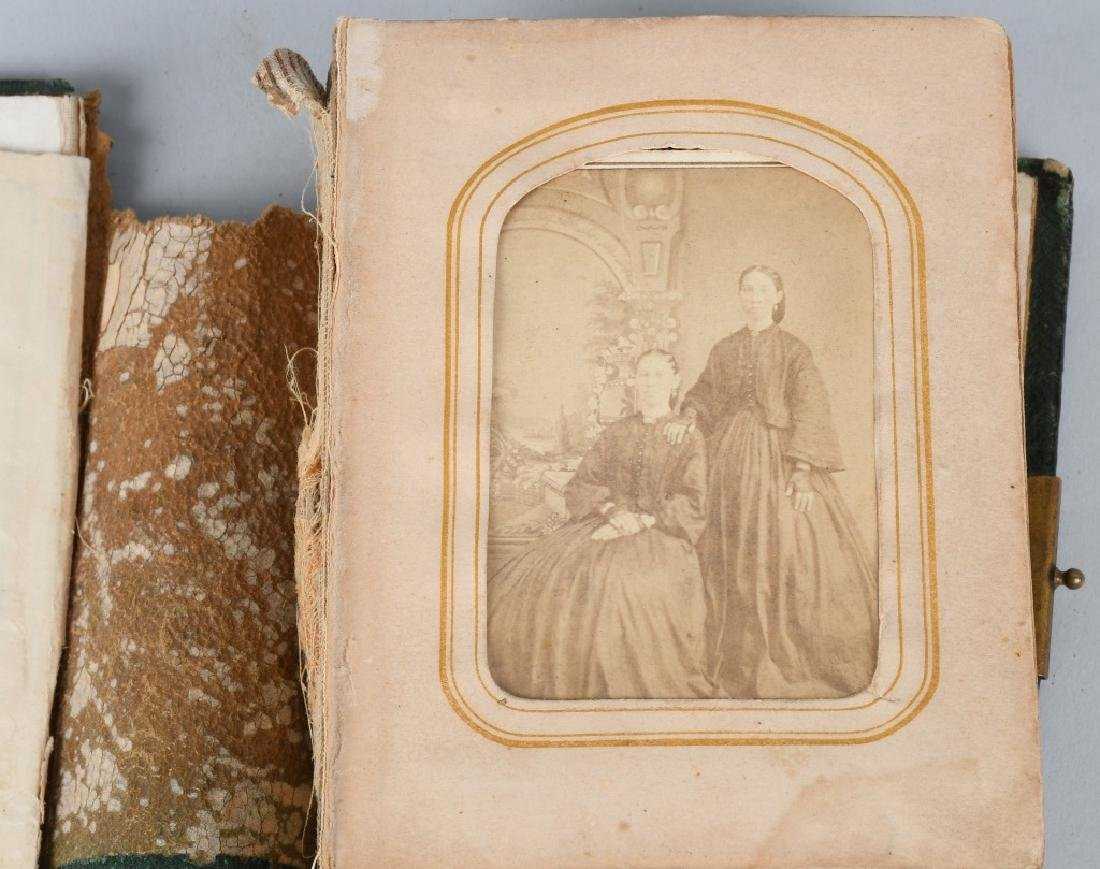 19th CENT. PHOTO ALBUM, TINTYPES & CDV's