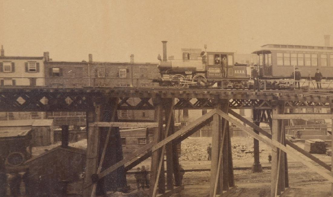 BROOKLYN ELEVATED RAILROAD IMPERIAL ALBUMEN - 3