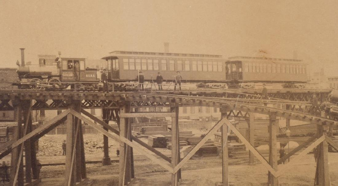 BROOKLYN ELEVATED RAILROAD IMPERIAL ALBUMEN - 4