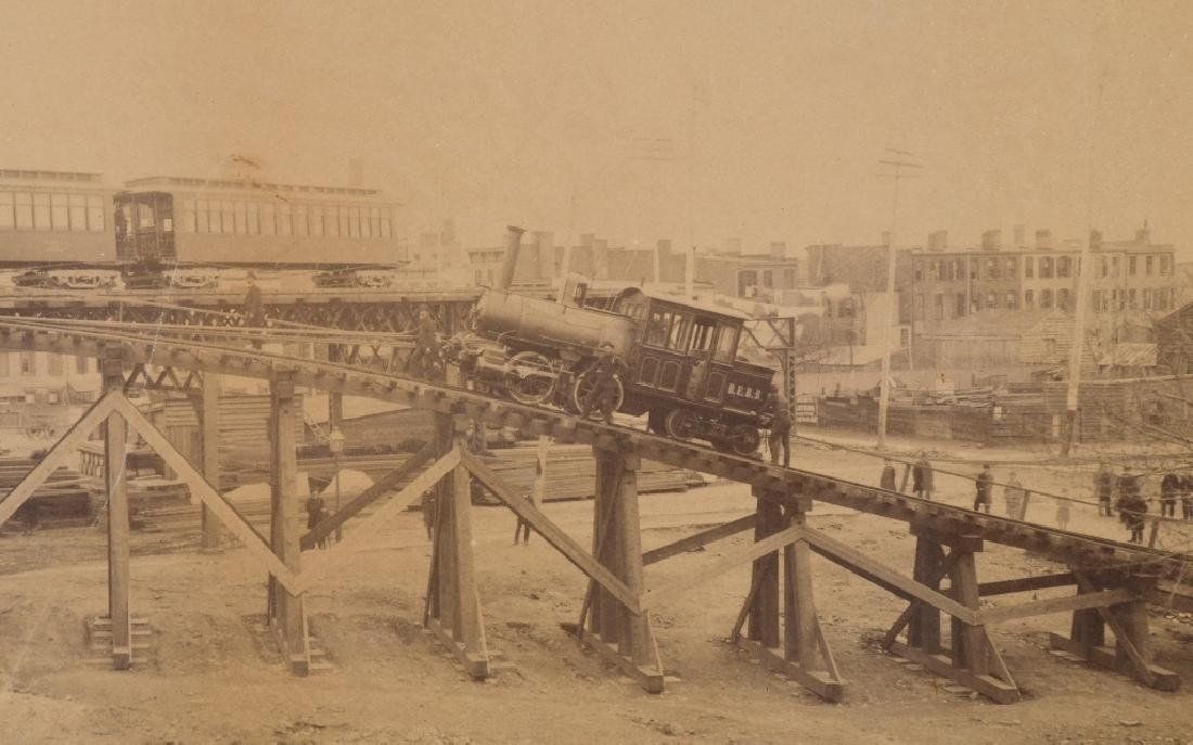 BROOKLYN ELEVATED RAILROAD IMPERIAL ALBUMEN - 5