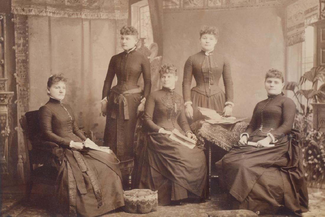 1800s 5 SISTERS ALBUMEN ALBUMEN PICTURE - 2