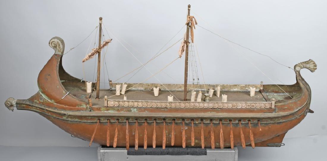6' 1925 BEN HUR MOVIE PROP SCREED USED SHIP - 10