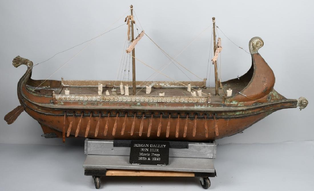 6' 1925 BEN HUR MOVIE PROP SCREED USED SHIP