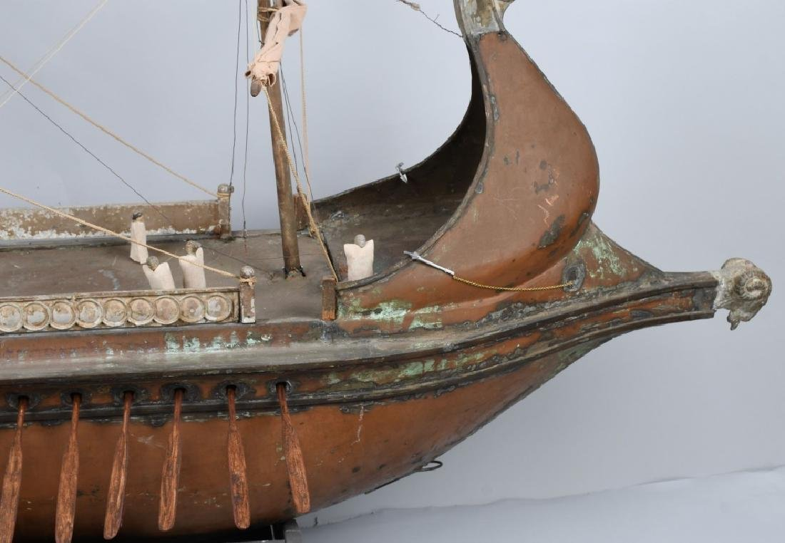 6' 1925 BEN HUR MOVIE PROP SCREED USED SHIP - 6