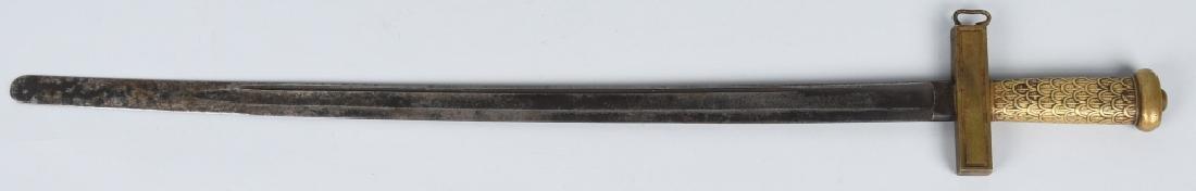 19th CENT. BRASS HILT SHORT SWORD