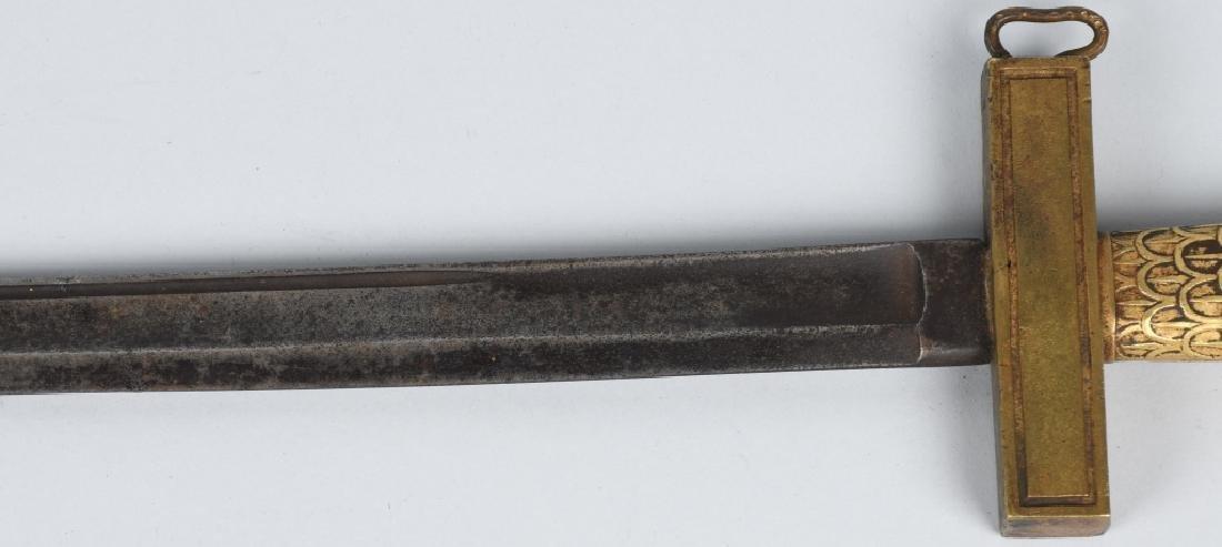 19th CENT. BRASS HILT SHORT SWORD - 3