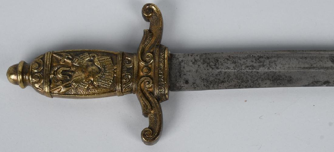 19th CENT. BRASS HILT SHORT SWORD - 6