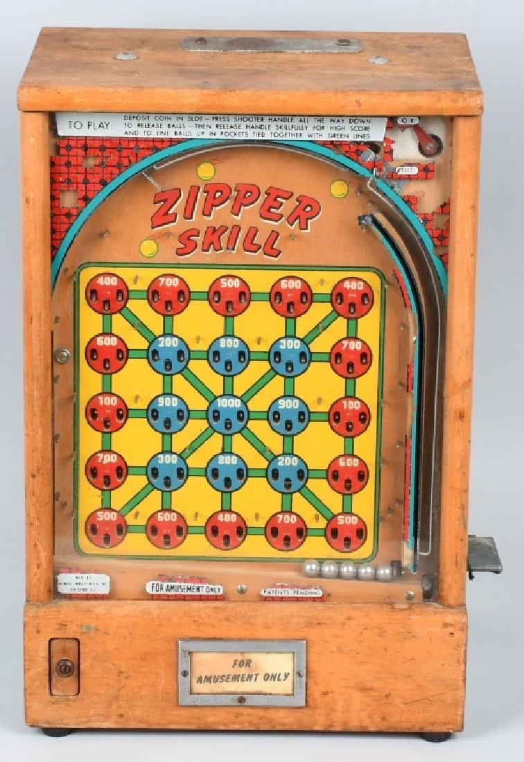 1c BINKS ZIPPER SKILL COUNTERTOP PINBALL MACHINE