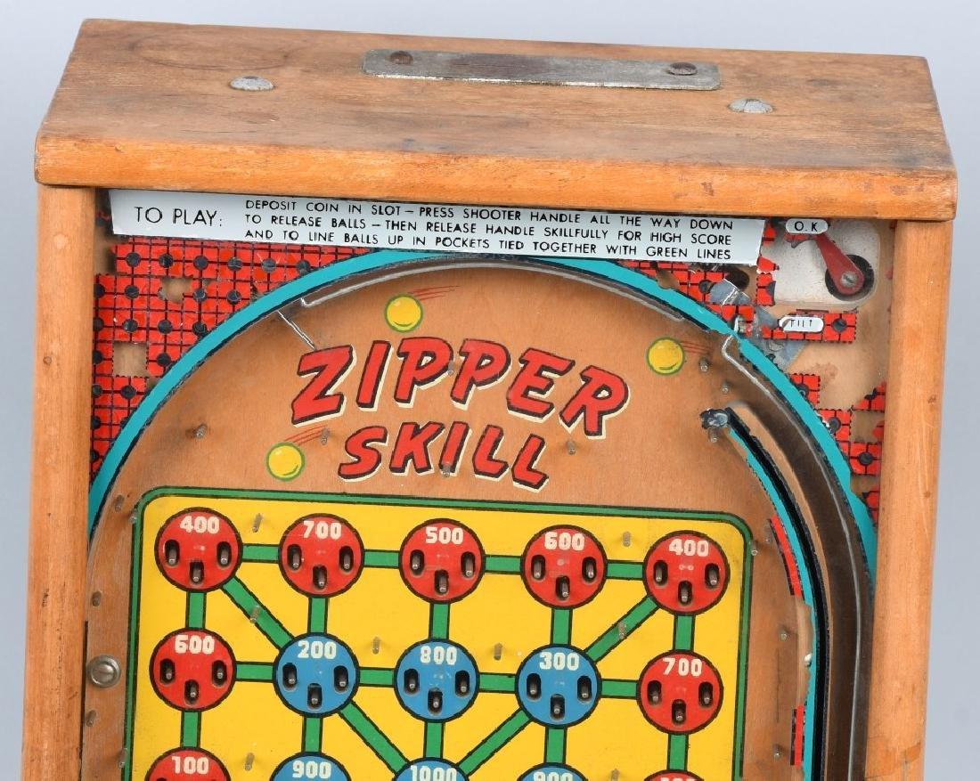 1c BINKS ZIPPER SKILL COUNTERTOP PINBALL MACHINE - 2