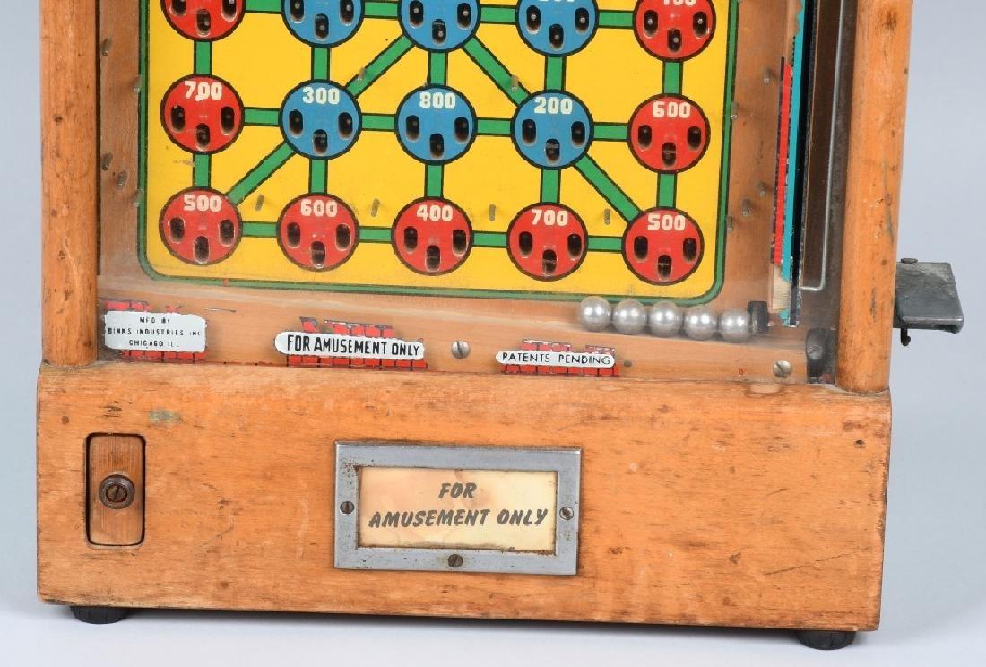 1c BINKS ZIPPER SKILL COUNTERTOP PINBALL MACHINE - 4