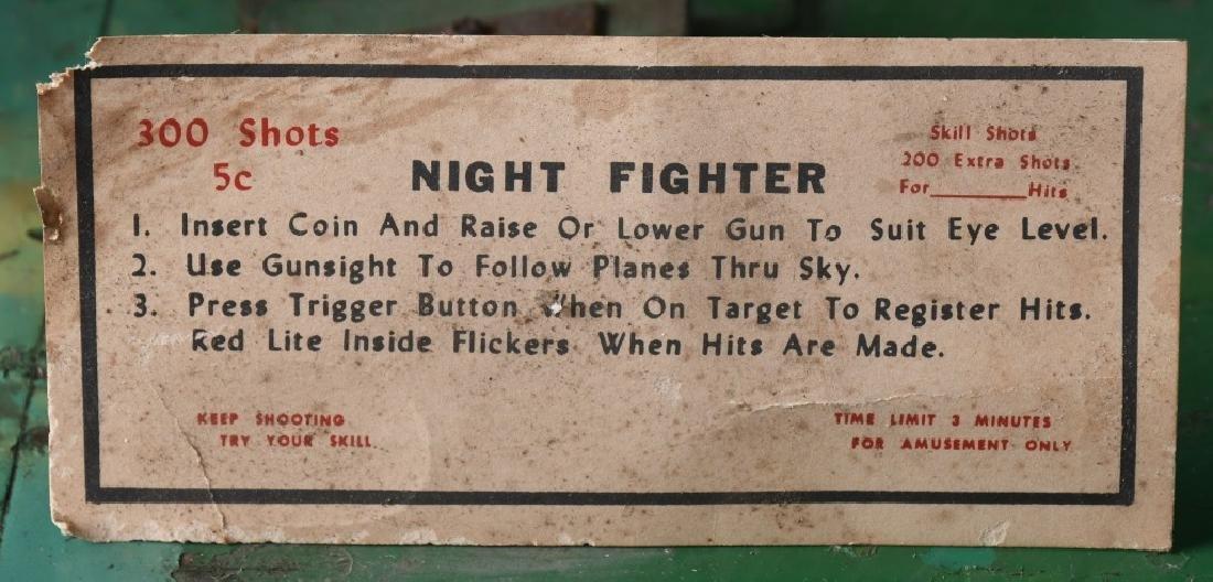 1953 5c NIGHT FIGHTER ARCADE MACHINE - 9
