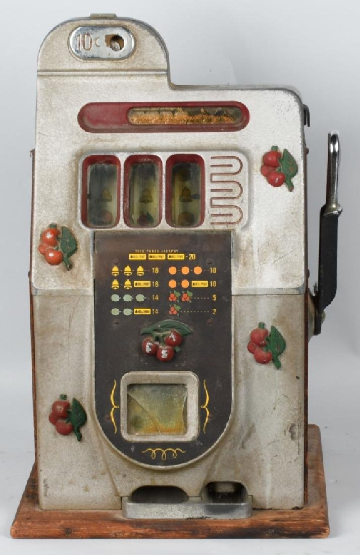 10c MILL CHERRY SLOT MACHINE