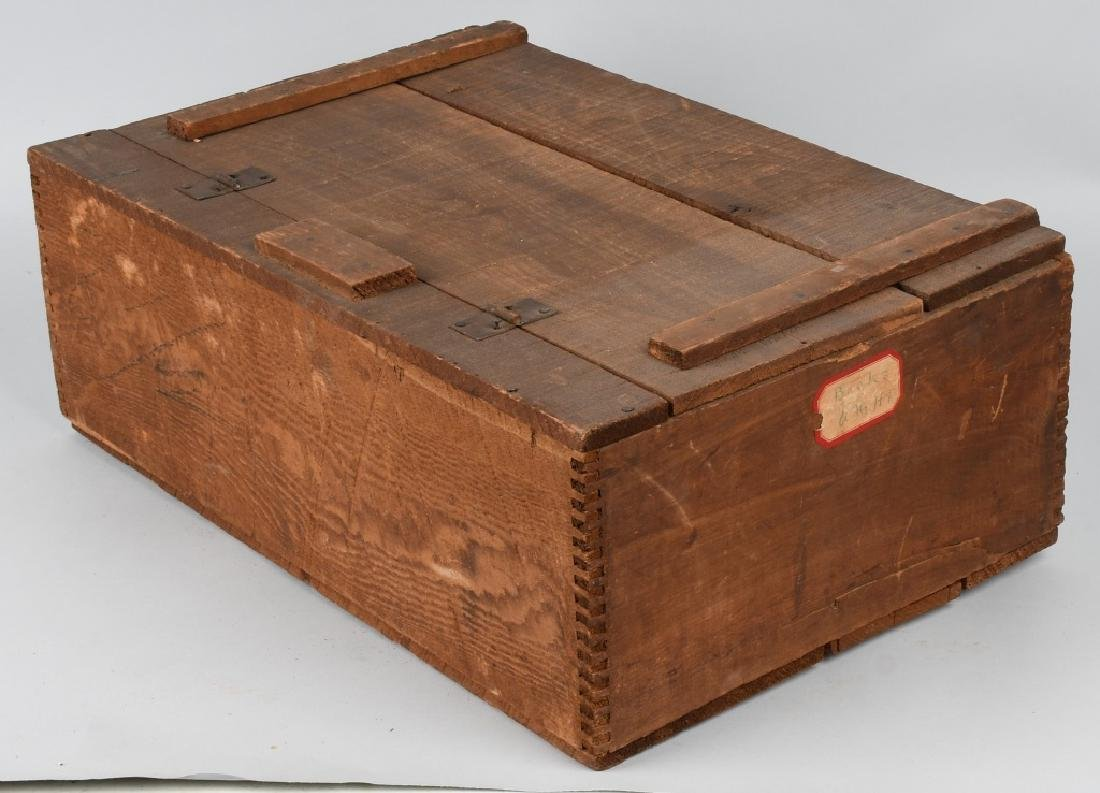 JS IVINS' SONS STEAM BAKERY WOOD CRATE - 5