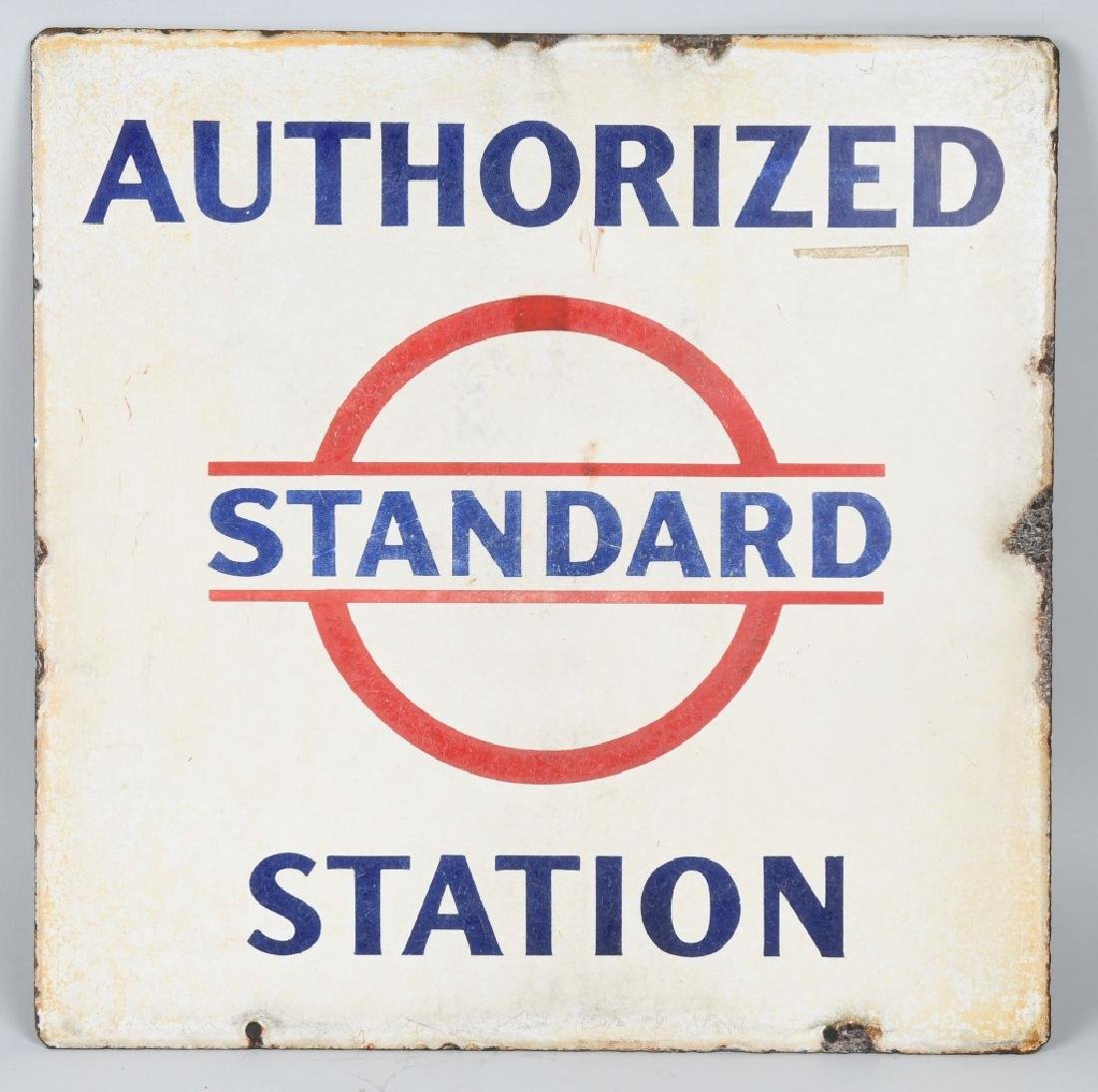 STANDARD AUTHORIZED STATION DS PORCELAIN SIGN