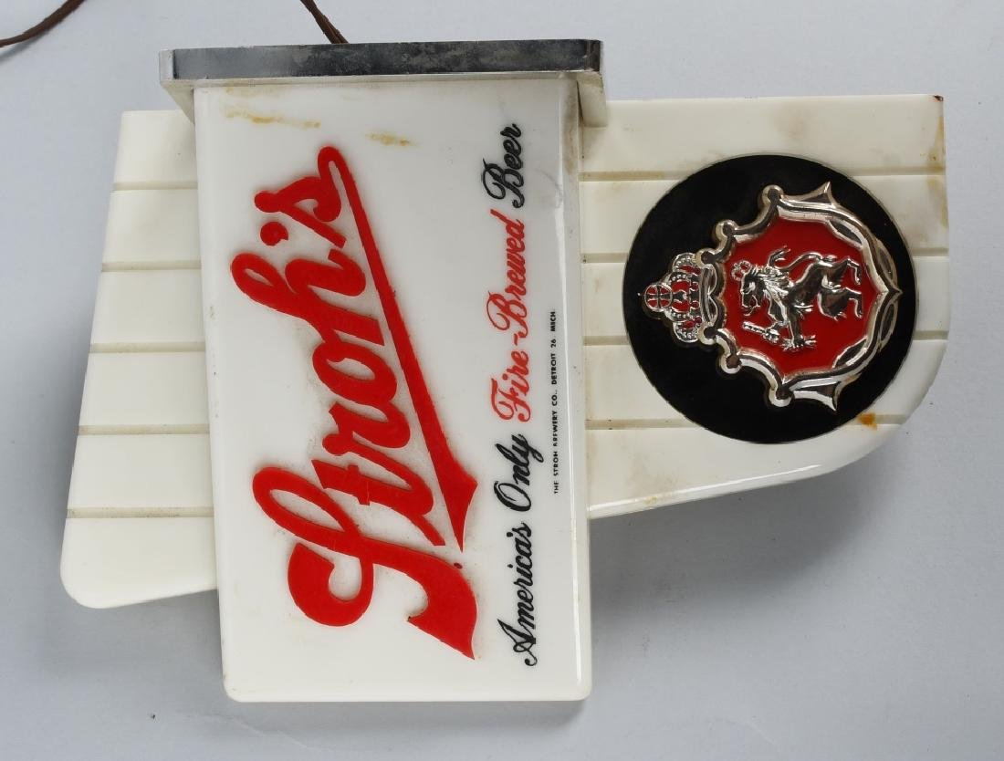 VINTAGE STROH'S BEER LIGHTUP SIGN - 2
