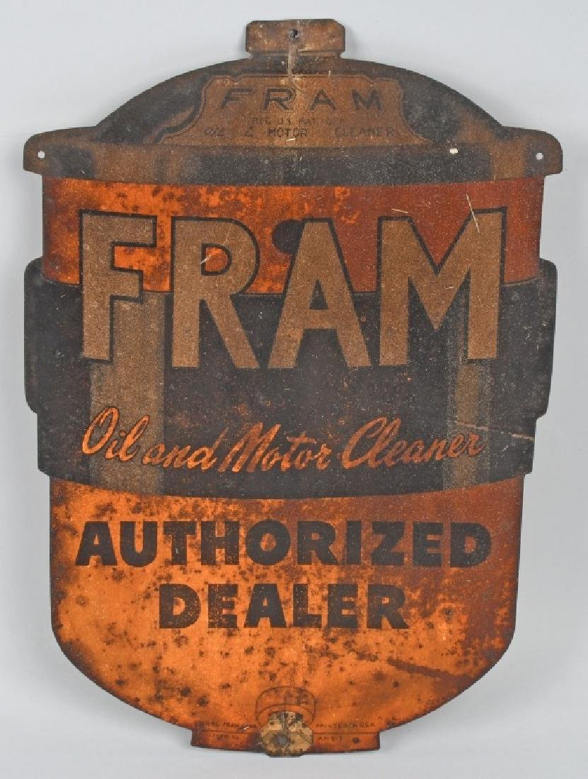 EARLY FRAME MOTOR OIL CLEANER SIGN