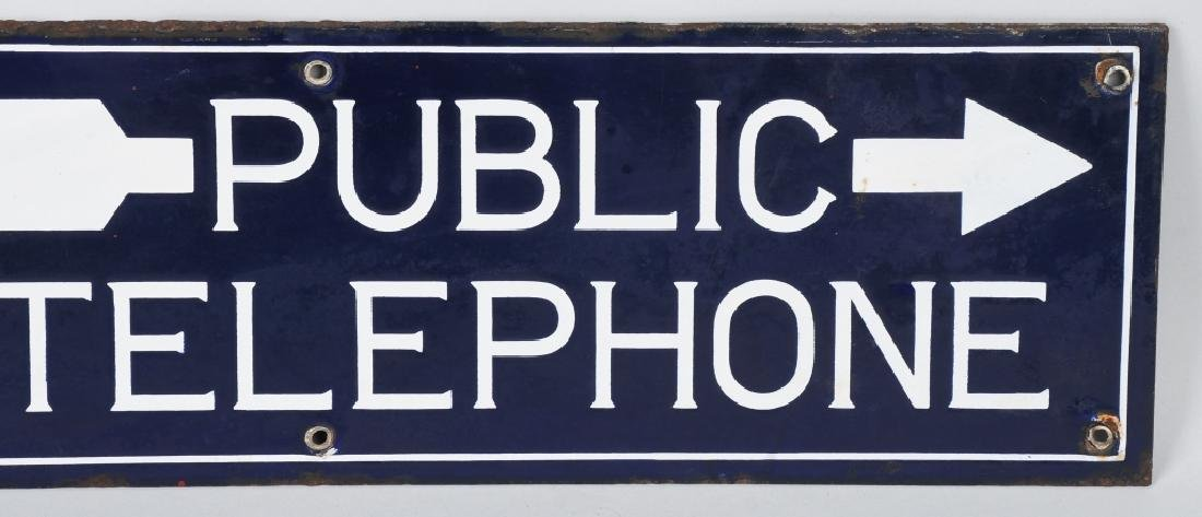 BELL SYSTEM PUBLIC TELEPHONE DS PORCELAIN SIGN - 4