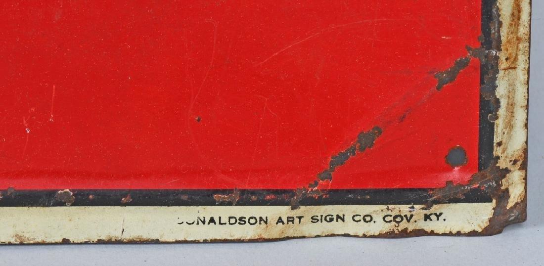 CALL AGAIN 5c CIGAR EMBOSSED TIN SIGN - 4