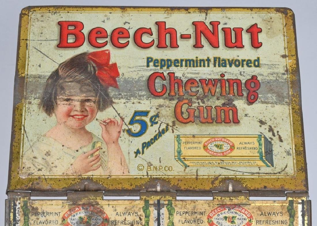 BEECH-NUT CHEWING GUN TIN COUNTER DISPLAY - 2