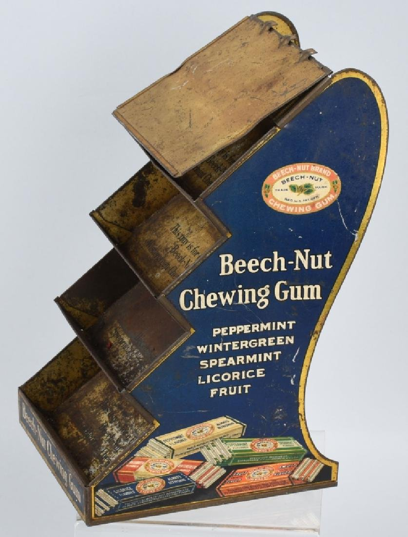 BEECH-NUT CHEWING GUN TIN COUNTER DISPLAY - 3