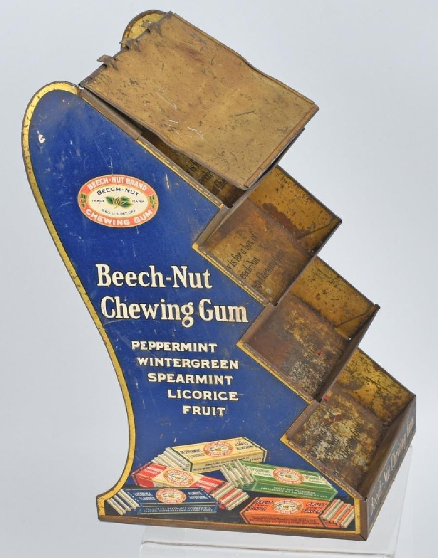 BEECH-NUT CHEWING GUN TIN COUNTER DISPLAY - 5