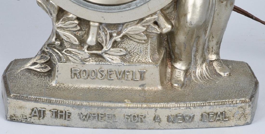 1930s GIBRALTAR ROOSEVELT NEW DEAL CLOCK - 3